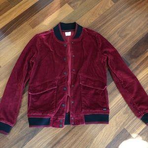 Rvca corduroy bomber jacket